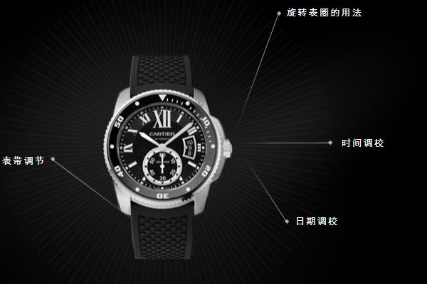 卡地亚腕表的外观展示